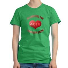 40th Anniversary Heart Gif Women's Fitted T-Shirt (dark)