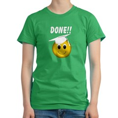 GraduationSmiley Face Women's Fitted T-Shirt (dark)