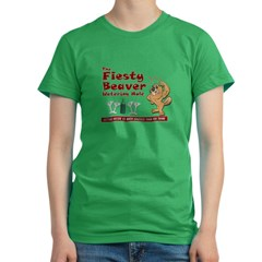 Fiesty Beaver Women's Fitted T-Shirt (dark)