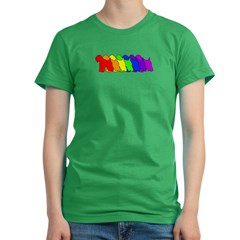 Rainbow Wheaten Women's Fitted T-Shirt (dark)