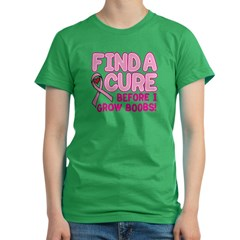 FIND A CURE... Women's Fitted T-Shirt (dark)