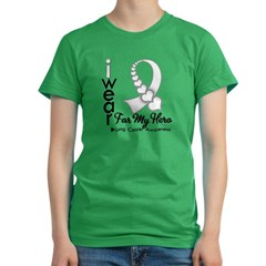 Lung Cancer Hero Ribbon Women's Fitted T-Shirt (dark)