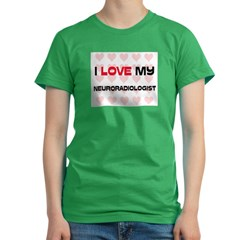 I Love My Neuroradiologis Women's Fitted T-Shirt (dark)
