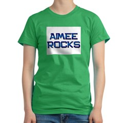 aimee rocks Women's Fitted T-Shirt (dark)