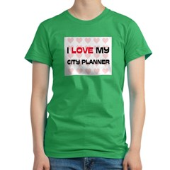 I Love My City Planner Women's Fitted T-Shirt (dark)