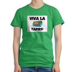 Viva La Tapirs Women's Fitted T-Shirt (dark)