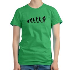 Funny Zombie Evolution Women's Fitted T-Shirt (dark)