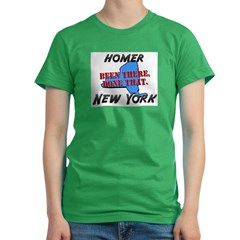 homer new york - been there, done that Women's Fitted T-Shirt (dark)