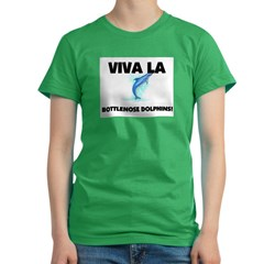 Viva La Bottlenose Dolphins Women's Fitted T-Shirt (dark)