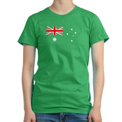 Australian Flag Women's Fitted T-Shirt (dark)