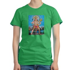 Jai Hanuman Women's Fitted T-Shirt (dark)