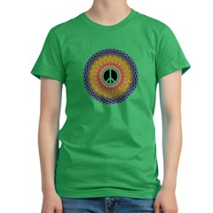 Hyperion Peace Mandala Women's Fitted T-Shirt (dark)