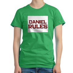 daniel rules Women's Fitted T-Shirt (dark)
