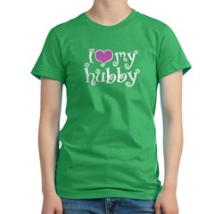 I Love My Hubby Women's Fitted T-Shirt (dark)