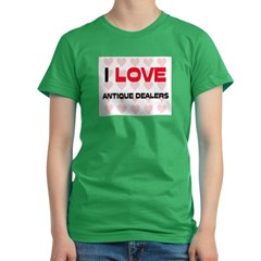I LOVE ANTIQUE DEALERS Women's Fitted T-Shirt (dark)