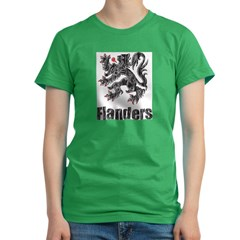 Vintage Flanders Women's Fitted T-Shirt (dark)