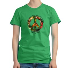 Peace Organic Vegetables Women's Fitted T-Shirt (dark)