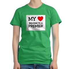 My Heart Belongs To A PREMIER Women's Fitted T-Shirt (dark)