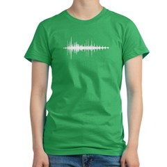 Audiowave - Women's Fitted T-Shirt (dark)