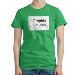 Graphic Designer Women's Fitted T-Shirt (dark)
