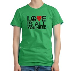 Love Is All Women's Fitted T-Shirt (dark)