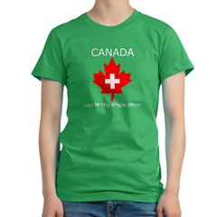 Canada Single Payer Women's Fitted T-Shirt (dark)