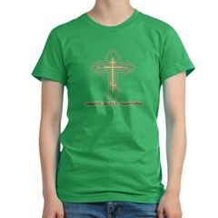 Orthodoxy,The Pre Denomination Women's Fitted T-Shirt (dark)
