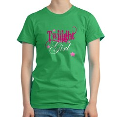 Twilight Girl Women's Fitted T-Shirt (dark)