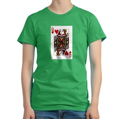 Queen of Hearts Women's Fitted T-Shirt (dark)