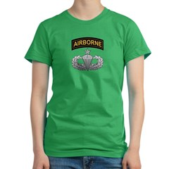 Senior Airborne Wings with Ai Women's Fitted T-Shirt (dark)