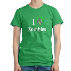 I Heart Zombies Women's Fitted T-Shirt (dark)