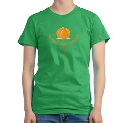 mommy's little pumpkin Women's Fitted T-Shirt (dark)