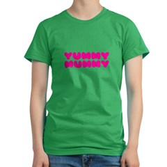 Yummy Mummy Women's Fitted T-Shirt (dark)
