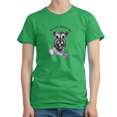 Classic Schnauzer IAAM Women's Fitted T-Shirt (dark)