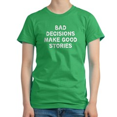Bad Decisions Women's Fitted T-Shirt (dark)