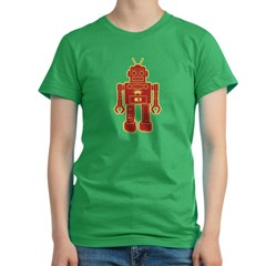 Robot Women's Fitted T-Shirt (dark)