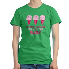 Funny Ice Cream Quote Women's Fitted T-Shirt (dark)