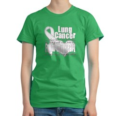 Daughter Lung Cancer Women's Fitted T-Shirt (dark)