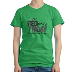Red Shirt VI Women's Fitted T-Shirt (dark)