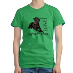 Black Lab Women's Fitted T-Shirt (dark)