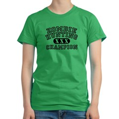 Zombie Hunting Champion Women's Fitted T-Shirt (dark)