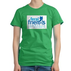 Feral Friends 2010 Logo Women's Fitted T-Shirt (dark)