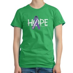 Alzheimers Hope Women's Fitted T-Shirt (dark)