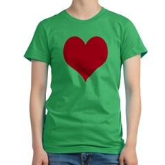 - Heart/Love Design Women's Fitted T-Shirt (dark)