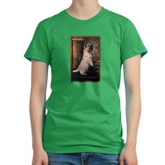 &quot;Sitting Pretty&quot; Cairn Terrier Women's Fitted T-Shirt (dark)