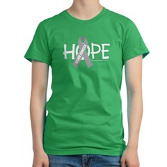 Brain Cancer Hope Women's Fitted T-Shirt (dark)