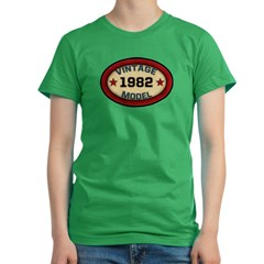 Birthday Vintage Model Year Women's Fitted T-Shirt (dark)