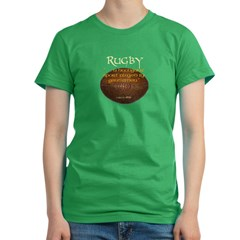 Rugby Hooligans Women's Fitted T-Shirt (dark)