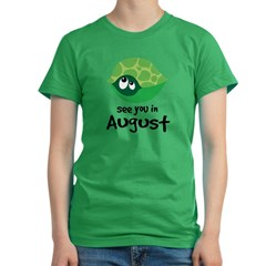 august turtle 2010 Women's Fitted T-Shirt (dark)