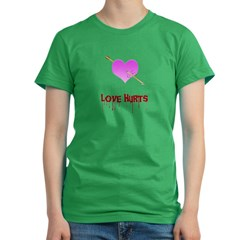 Love Hurts Women's Fitted T-Shirt (dark)
